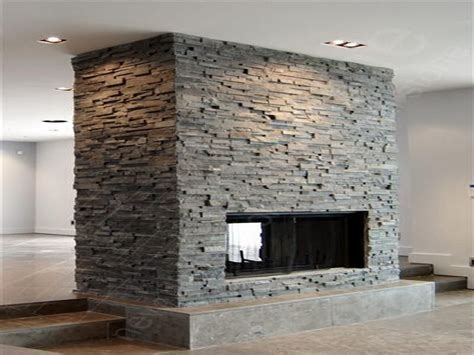 Slate Veneer Fireplace - grey stacked search edworth materials