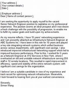 cover letter for experienced electrical engineer - network engineering covering letter sample