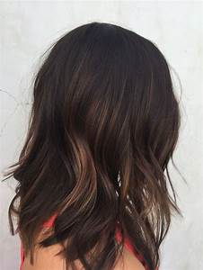 Dark Brunette Balayage Medium Length
