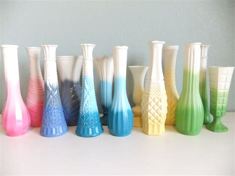 Painting A Glass Vase by Painted Glass Vases Ombre Effect You Choose Your Colors
