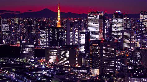 wallpaper japan tokyo buildings night city