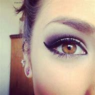Purple Smokey Makeup for Brown Eyes