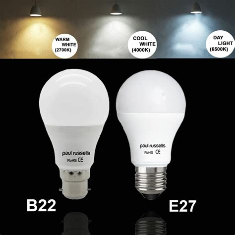 led e27 100w 5w 7w 12w led 40 60w 100w e27 b22 gls l light bulbs warm cool day white ebay