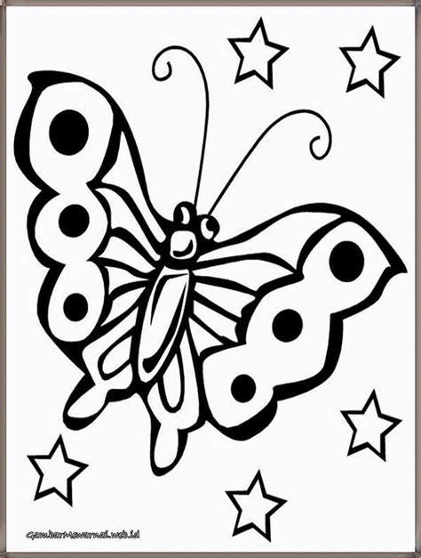 catatanku anak desa sketsa gambar mewarnai kupu kupu