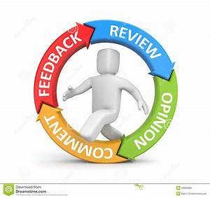 Feedback, Reviews, Opinion, Comments Stock Illustration