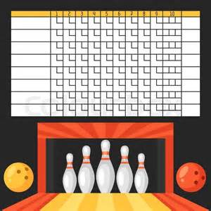 Blank Bowling Score Sheets Template