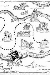 Treasure Coloring Map Pages Dragon Creative sketch template