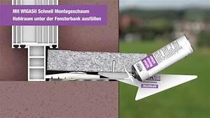 Naturstein Fensterbank Einbauen Video : fensterbank einbau naturstein br stungsset youtube ~ Watch28wear.com Haus und Dekorationen