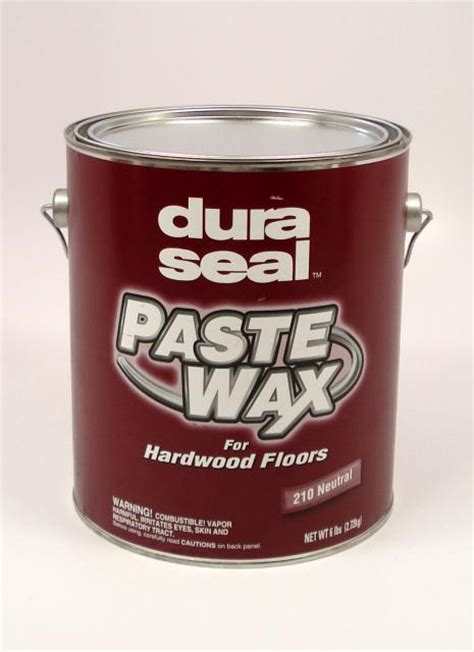 Dura Seal Paste Wax For Wood Flooring Neutral 6 Pound
