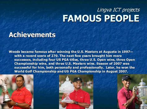 FAMOUS PEOPLE BIOGRAPHIES: TIGER WOODS by Dušan and Stefan ...