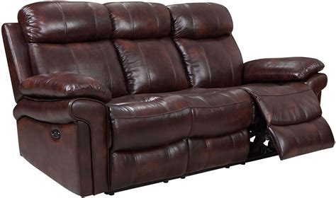 Leather Power Sofa by Shae Joplin Brown Leather Power Reclining Sofa 1555 E2117