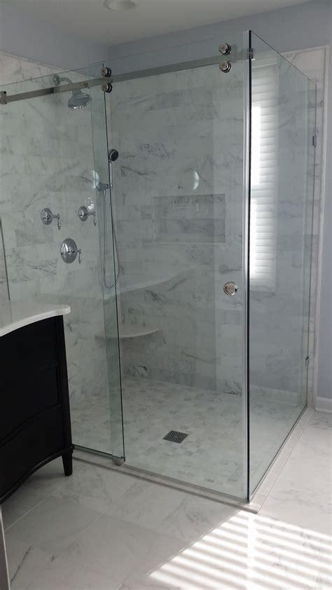 master bath remodel large marble shower sliding