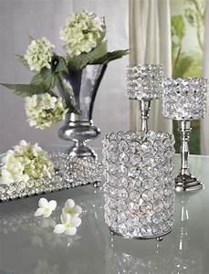Tischdeko Weihnachten Silber : kristall kerzenst nder lucy silber aluminium und glaskristalle teelichthalter kerzenhalter ~ Watch28wear.com Haus und Dekorationen