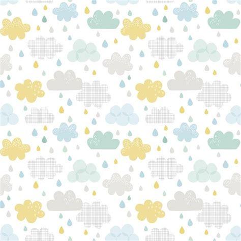 papier peint bebe garcon papier peint enfant nuages et gouttes