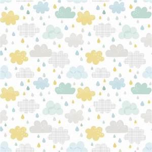 Papier Peint Bébé Garcon : papier peint enfant nuages et gouttes ~ Nature-et-papiers.com Idées de Décoration