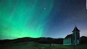 Major solar storm creates aurora borealis