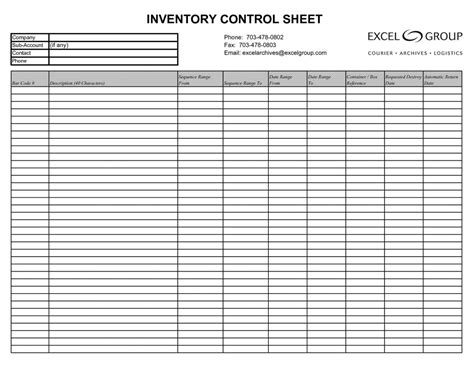 inventory spreadsheet template google sheets db