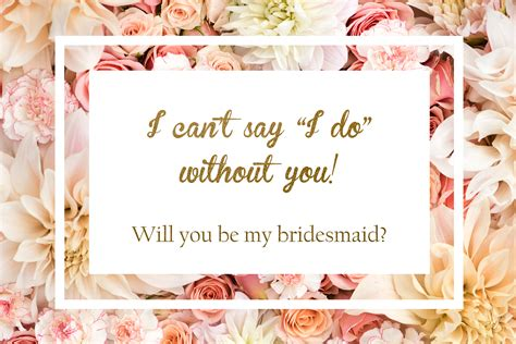 bridesmaid  printable
