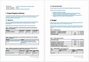 project progress report template microsoft word templates With ms word templates for project report