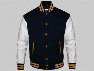 custom letterman jackets for men black wool and white With the letter jacket man
