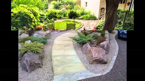simple home landscape ideas  small gardens youtube