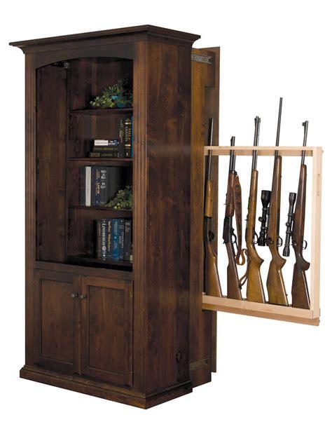 hidden gun cabinet furniture american made bookcase with hidden gun cabinet from