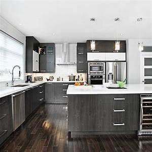 Cuisine Blanche Et Noire : magie noire et blanche dans la cuisine desing cuisine ~ Nature-et-papiers.com Idées de Décoration