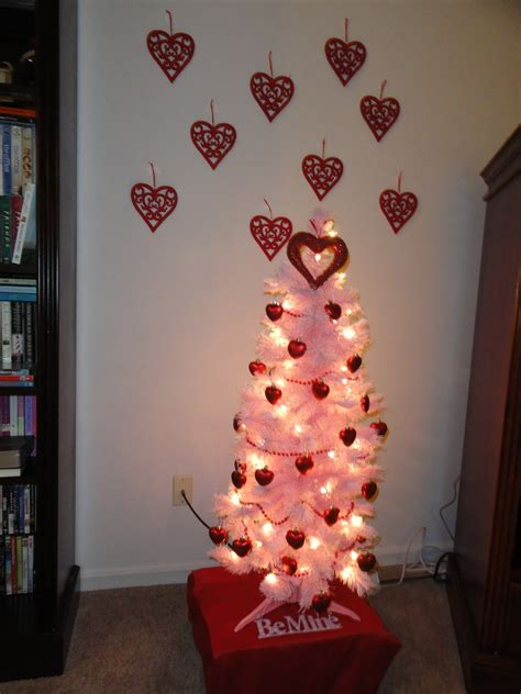 simple valentine home decorating ideas with valentin tree