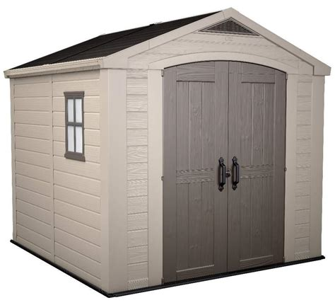 keter factor 8 x 8 shed 1 915 00 landera outdoor storage sheds and greenhouses
