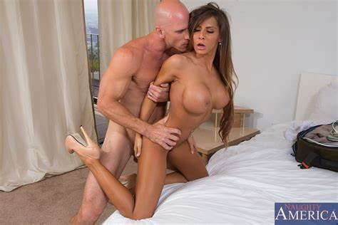 Brunette Interracial Her Immense Denim Clothing Madison Ivy & Johnny Sins Lustful America