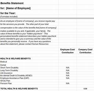 Group Scheduling Employee Benefits Statement Template My Excel Templates