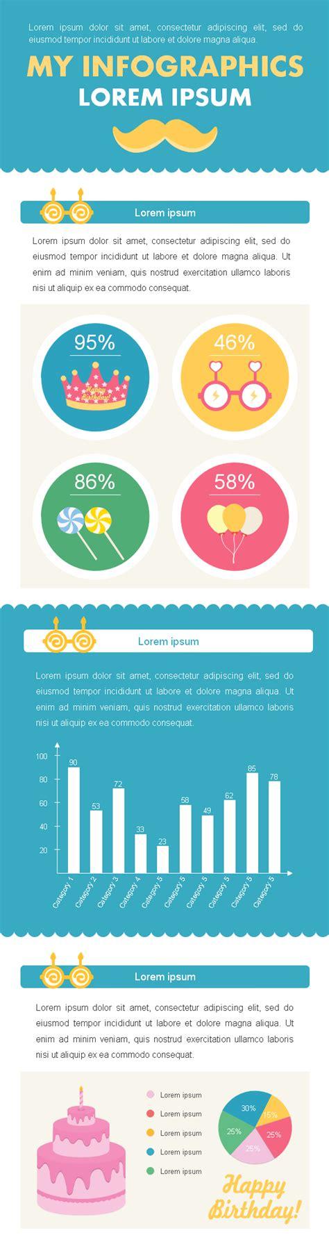 editable birthday elements  infographic design