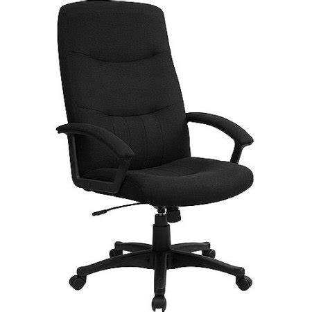 Back Chair Walmart by Fabric Upholstered Executive High Back Swivel Office Chair