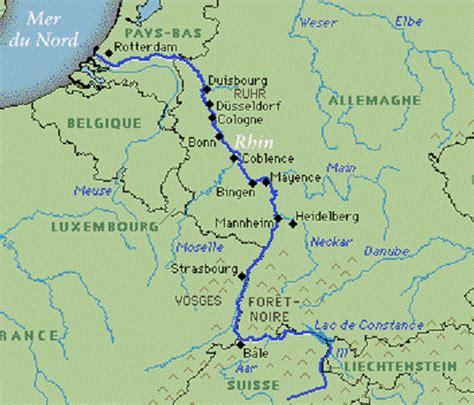 Carte Fleuve Rhin by Forces Maritimes Du Rhin