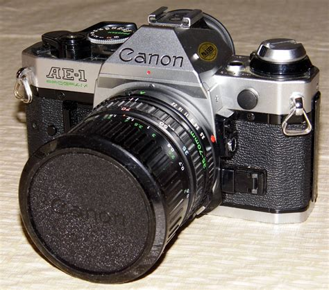 Filevintage Canon Ae1 Program 35mm Slr Camera, One Of