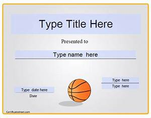 Basketball participation certificates dtk templates for Free participation certificate templates for word