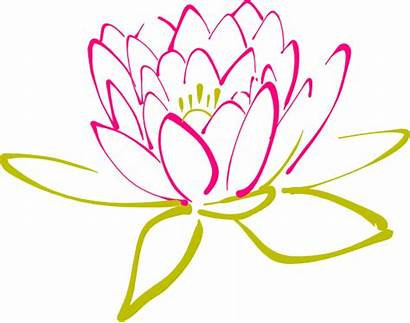 Clip Abstract Flower Clipart Lotus Flowers Designs