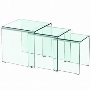 Table Basse Gigogne Verre : table basse type gigogne verra verre tranparent ~ Teatrodelosmanantiales.com Idées de Décoration