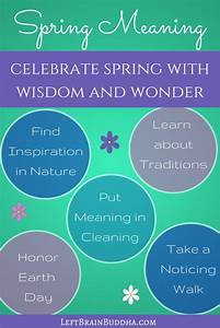 Celebrate Spring with Meaning! - Left Brain Buddha