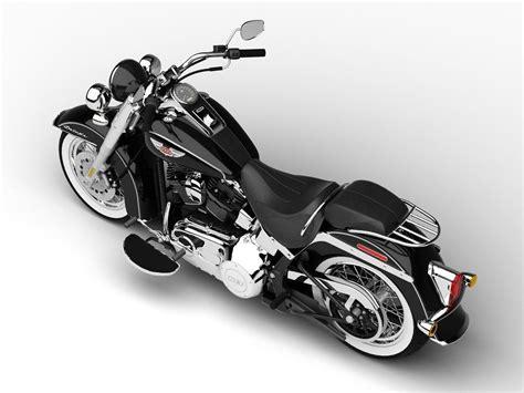 Harley-davidson Flstn Softail Deluxe 2015 3d Model .max