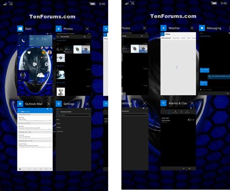 apps for windows mobile switch between apps on windows 10 mobile phones tutorials