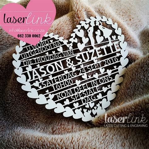 laser cut heart wedding invitations laserlink