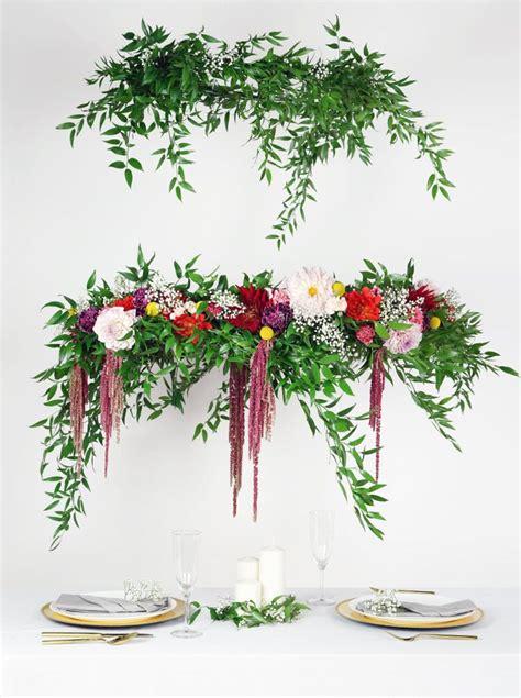 Diy Tutorial Hanging Floral Chandelier Wedding Ideas