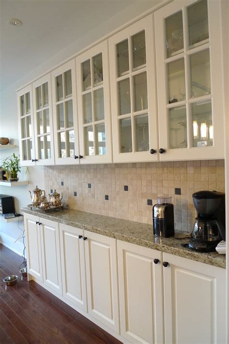 shallow base cabinets Kitchen Traditional with beige