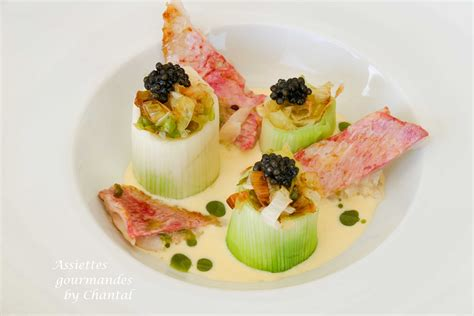 recette cuisine chef recette de gaetan gentil rouget poireaux caviar et