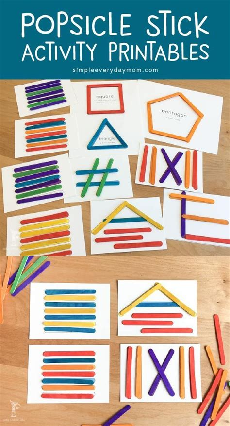easy prep popsicle stick projects  young children