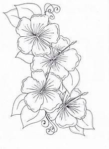 Image Gallery hawaiian flower drawings