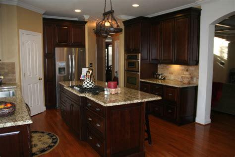 dark cherry cabinets kitchen traditional  built