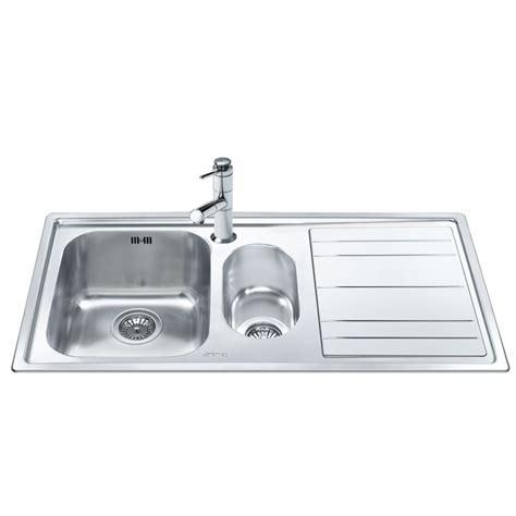 smeg kitchen sink smeg leh102d rigae kitchen sink 1 5 bowl brushed stainless 2385