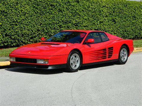 classic ferrari testarossa 1987 ferrari testarossa red black single lug 9800 original